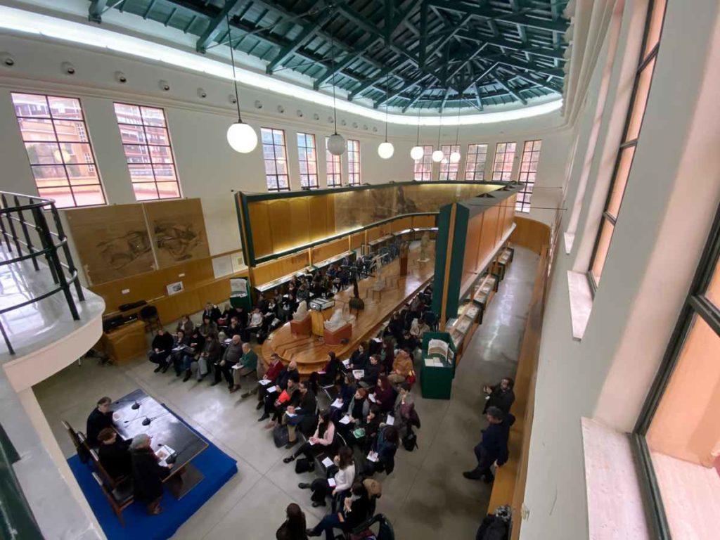 Un momento della presentazione del corso di formazione Laboratori di ispirazione collettiva, presso il Museo Duilio Cambellotti