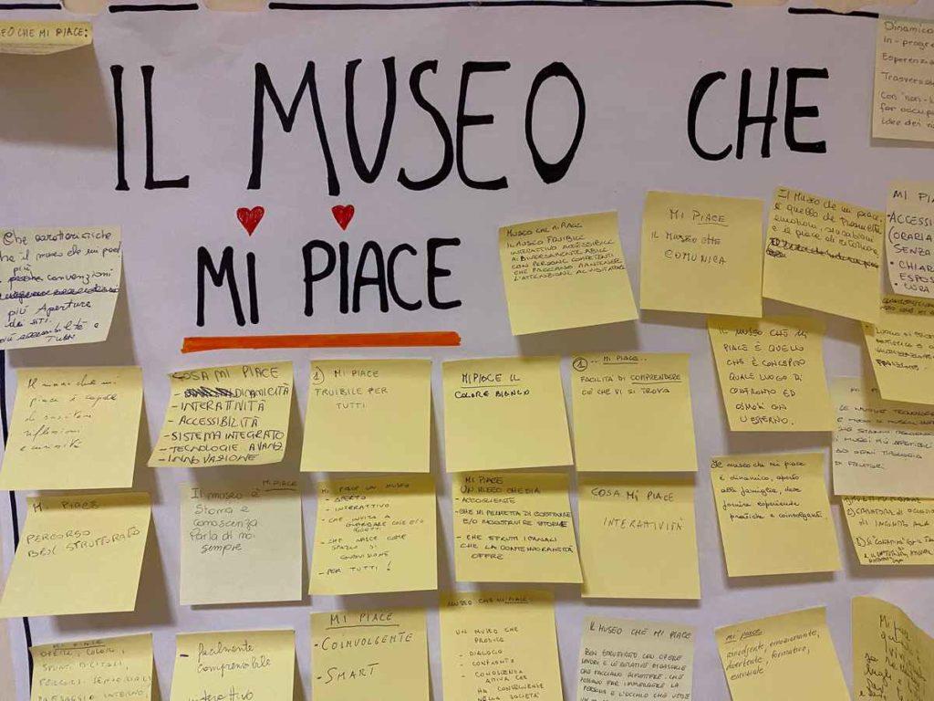 """Museo 4.0: post-it """"mi piace"""" dei corsisti del corso Laboratori di ispirazione collettiva per i musei del territorio, Museo Duilio Cambellotti"""