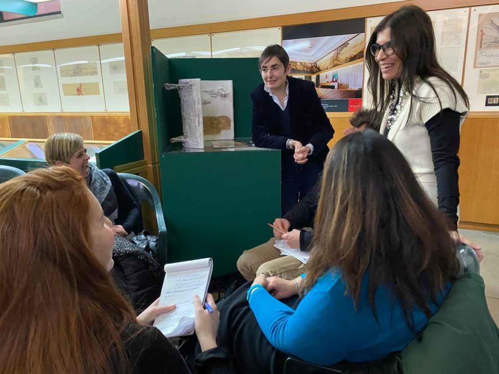 Docenti e corsisti al corso di formazione Laboratori di ispirazione collettiva per i musei del territorio, Museo Duilio Cambellotti