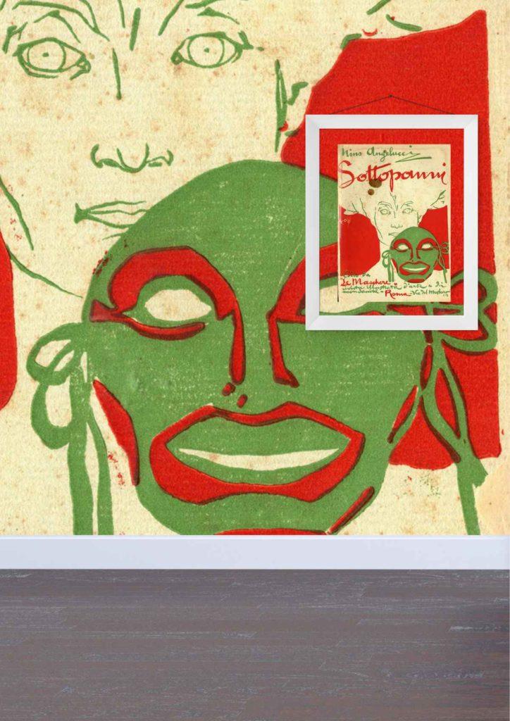 Opera grafica Sottopanni presente nella prima sala del Museo Cambellotti a Latina